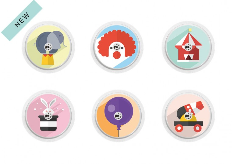 Freestyle Libre sticker Collection Circus