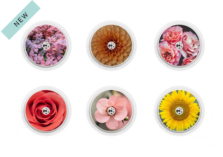 Freestyle Libre sticker Collection Flowers