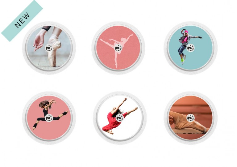 Freestyle Libre sticker Collection Let's dance