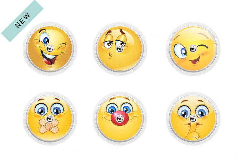 Freestyle Libre sticker Collection Smileys